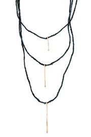 Shoptiques Product: Tri Stick Necklace - Front cropped