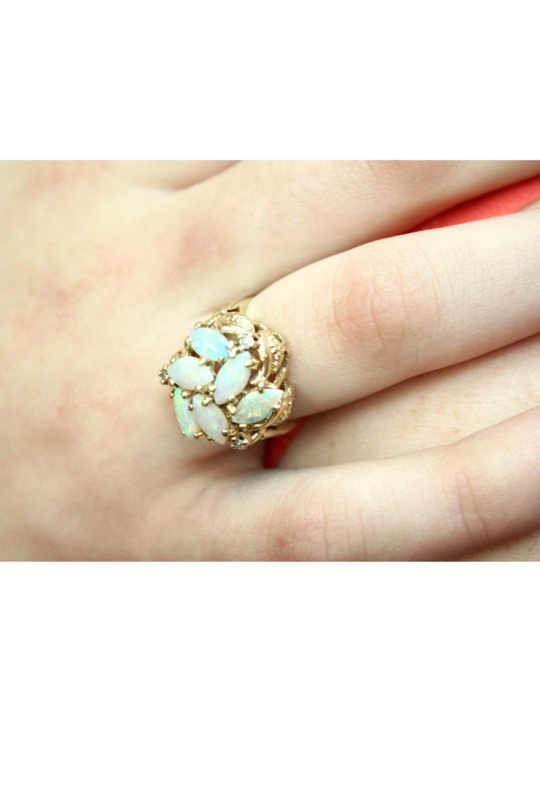 CDO  Opal Cluster Ring - Front Full Image
