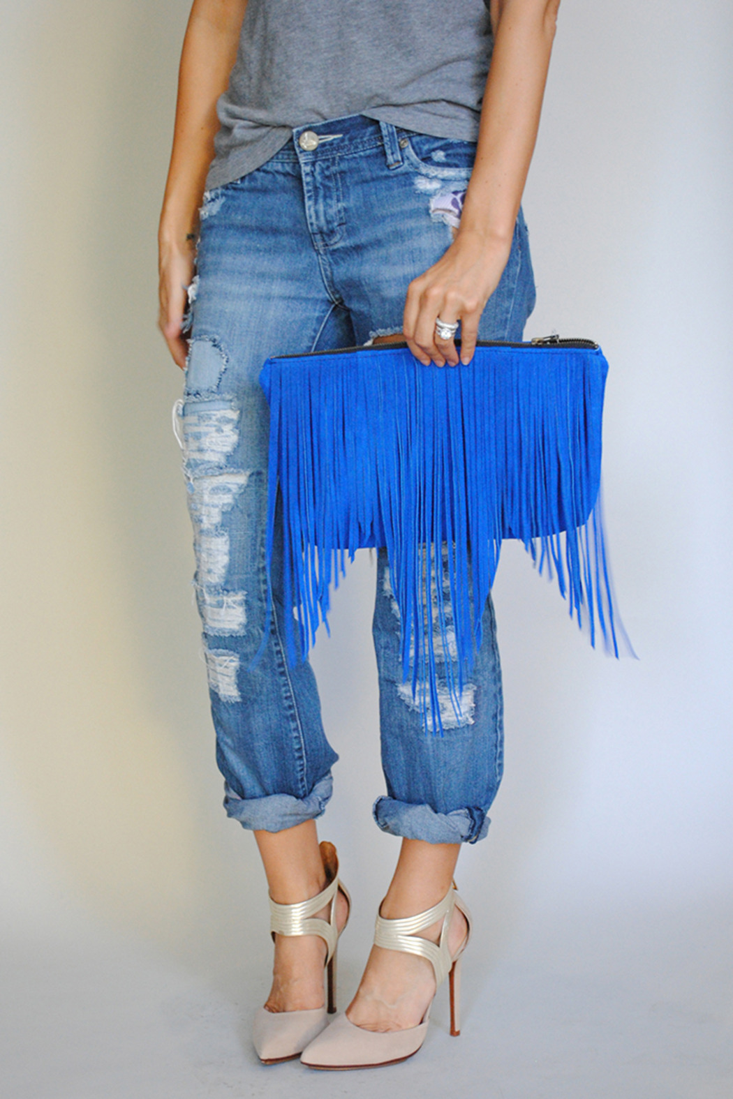 I.D. internoscia design Suede Fringe Clutch from Bucktown by von Z ...