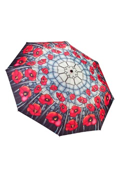 Galleria Stainglass Poppies Umbrella - Product List Image