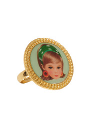 N2 Green Blond Doll Ring - Front cropped