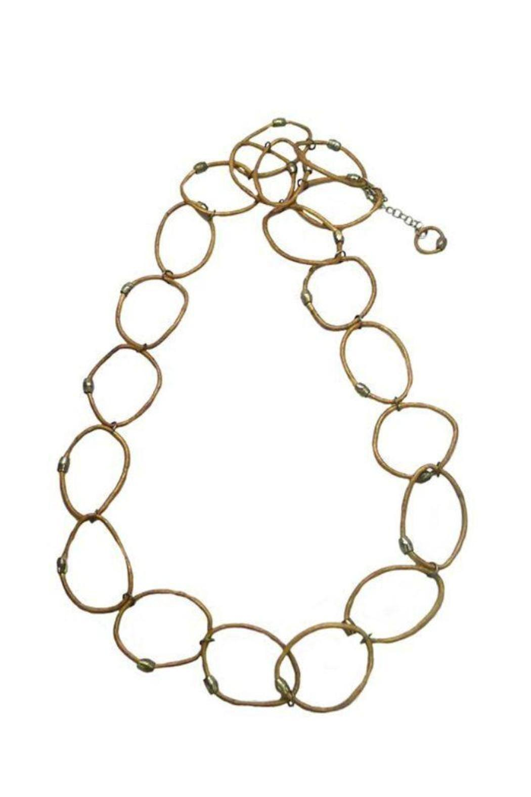 Made It! Leather Hoop Necklace - Front Full Image