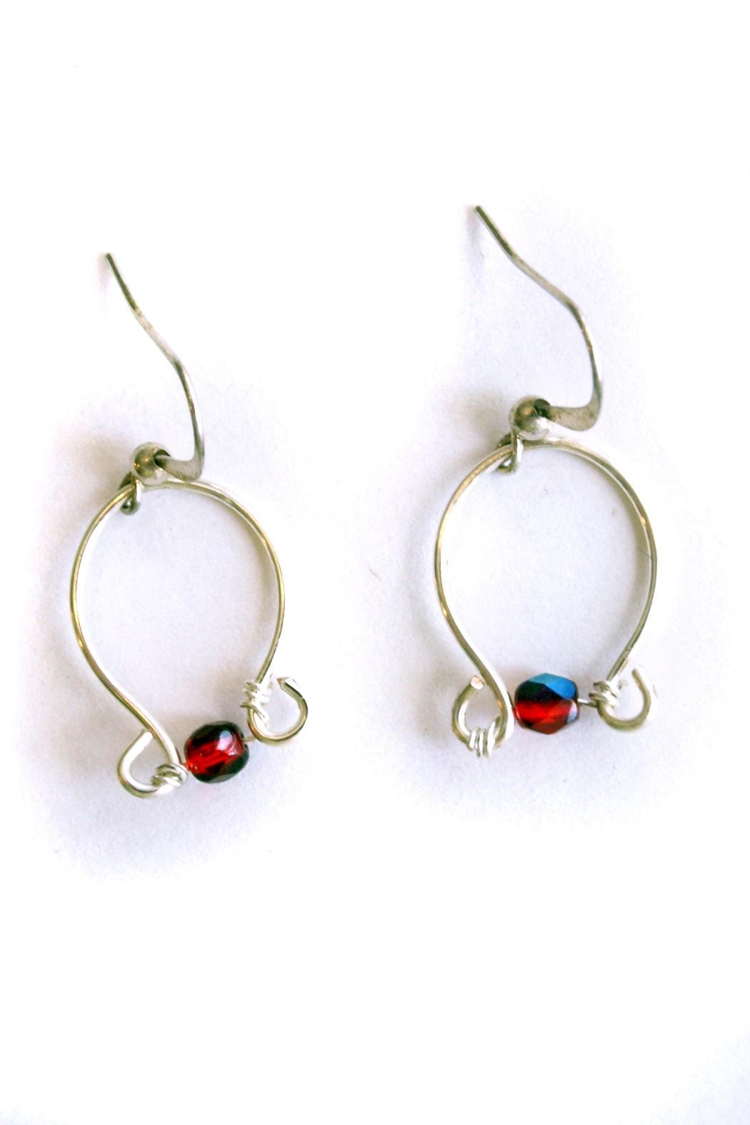 Christine Cummings Silver Wire Earrings - Front Cropped Image