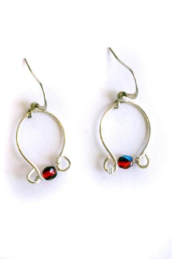 Shoptiques Product: Silver Wire Earrings - main