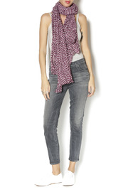 East Cloud Polka Dot Scarf - Front cropped