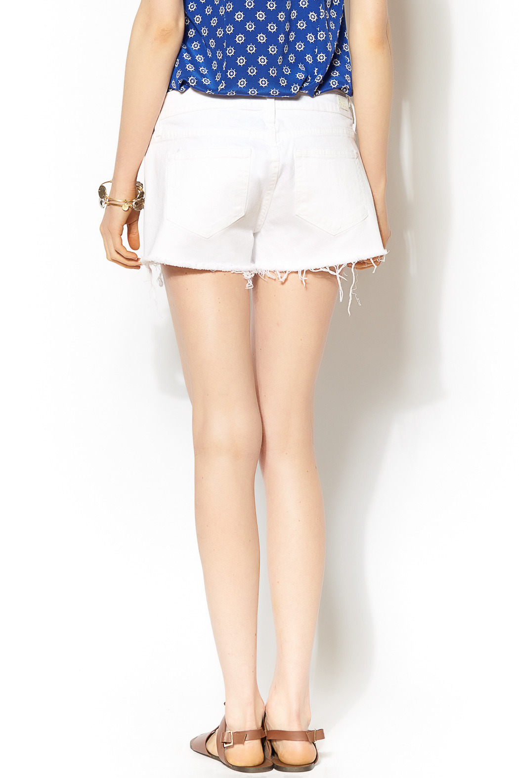 Paige Catalina Cut Offs - Back Cropped Image