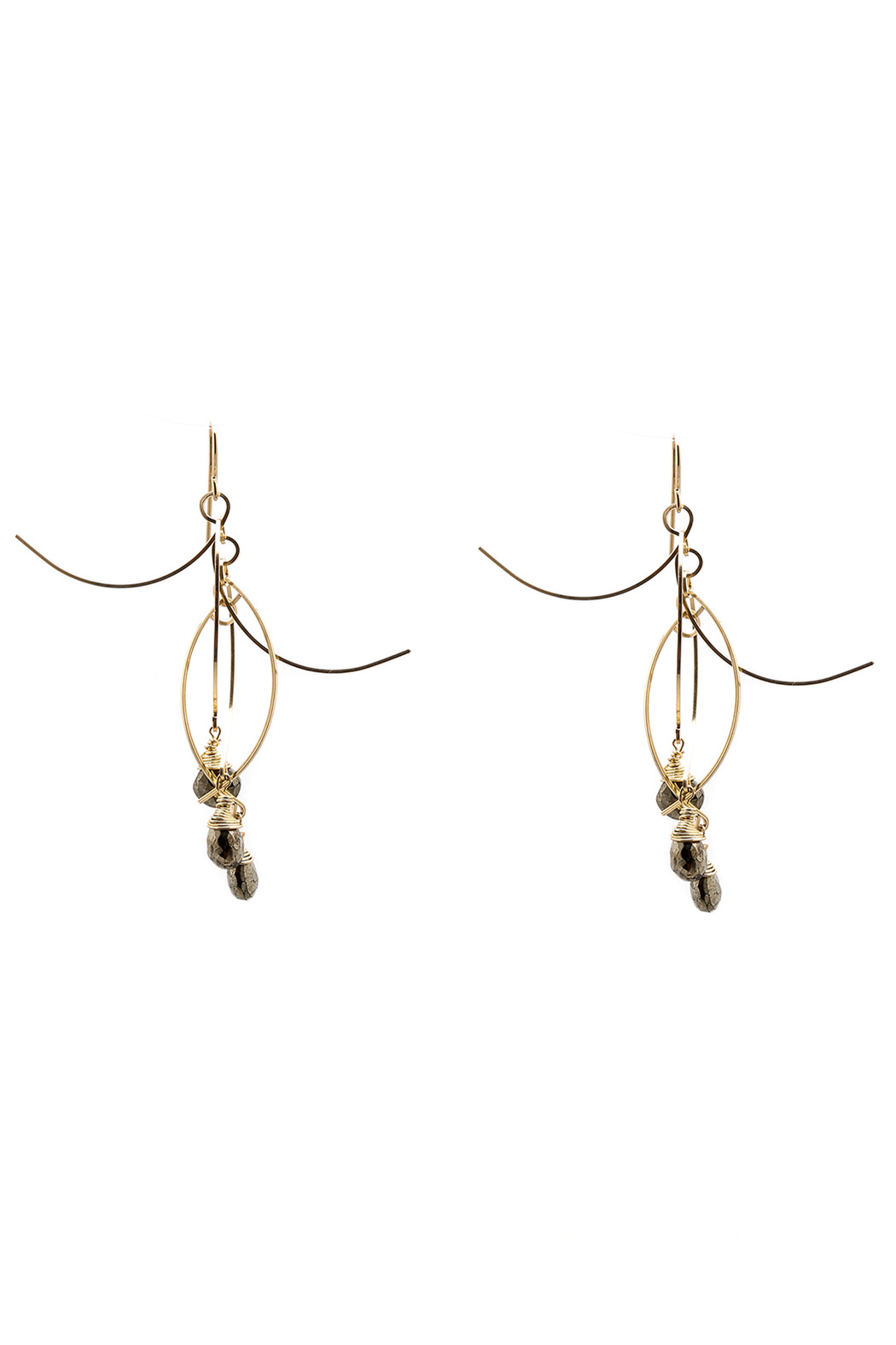 ZIA Boutique Sticks Stones Earrings Small - Main Image