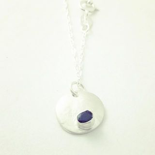 Shoptiques Product: Sapphire Sterling Silver Necklace