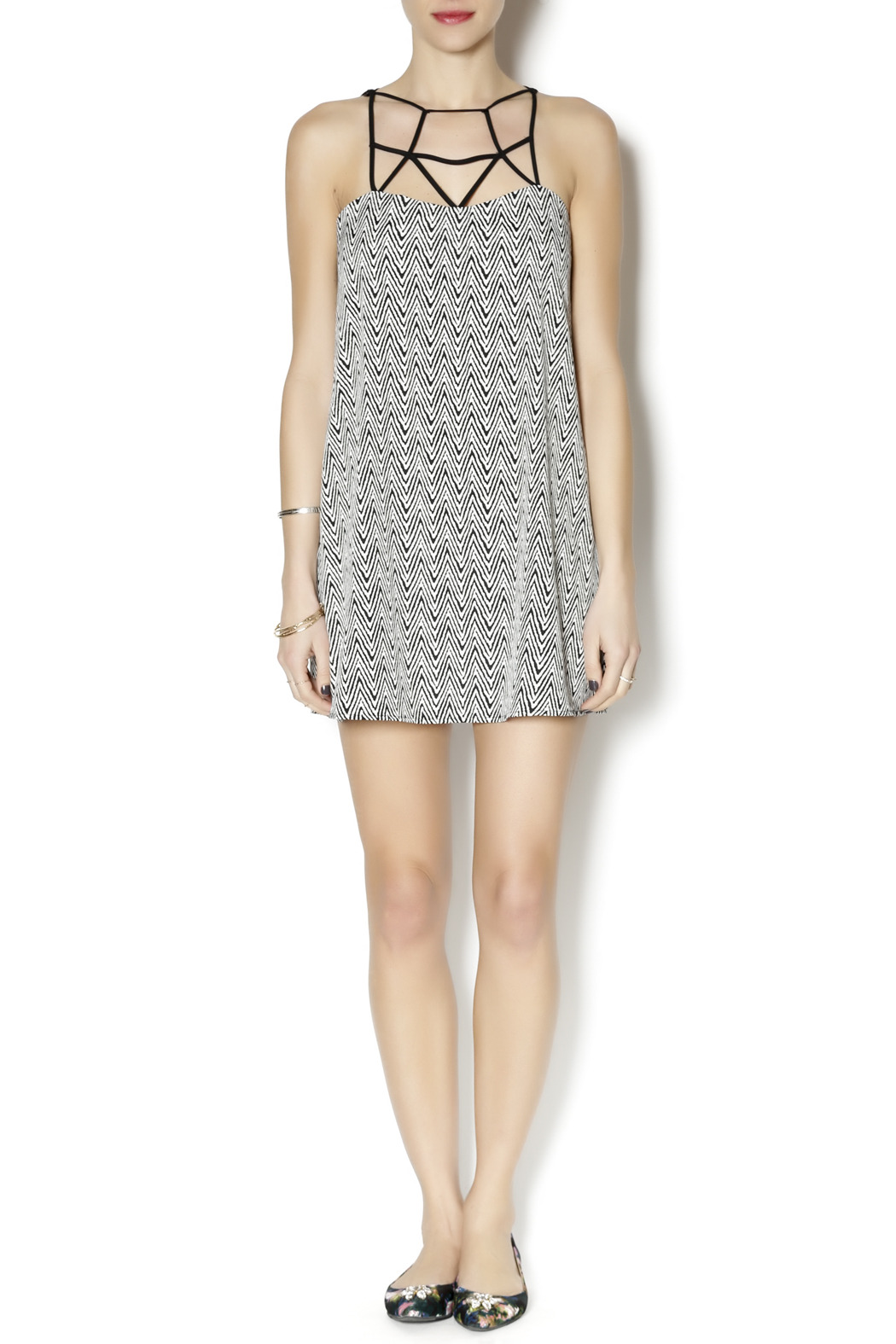 Coveted Clothing Zig Zag Dress - Front Full Image