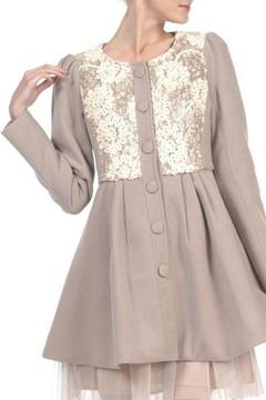 A'reve Sequin Taupe Jacket - Product List Image