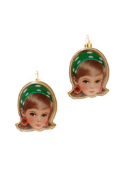 Shoptiques Product: Green Blond Doll Earrings