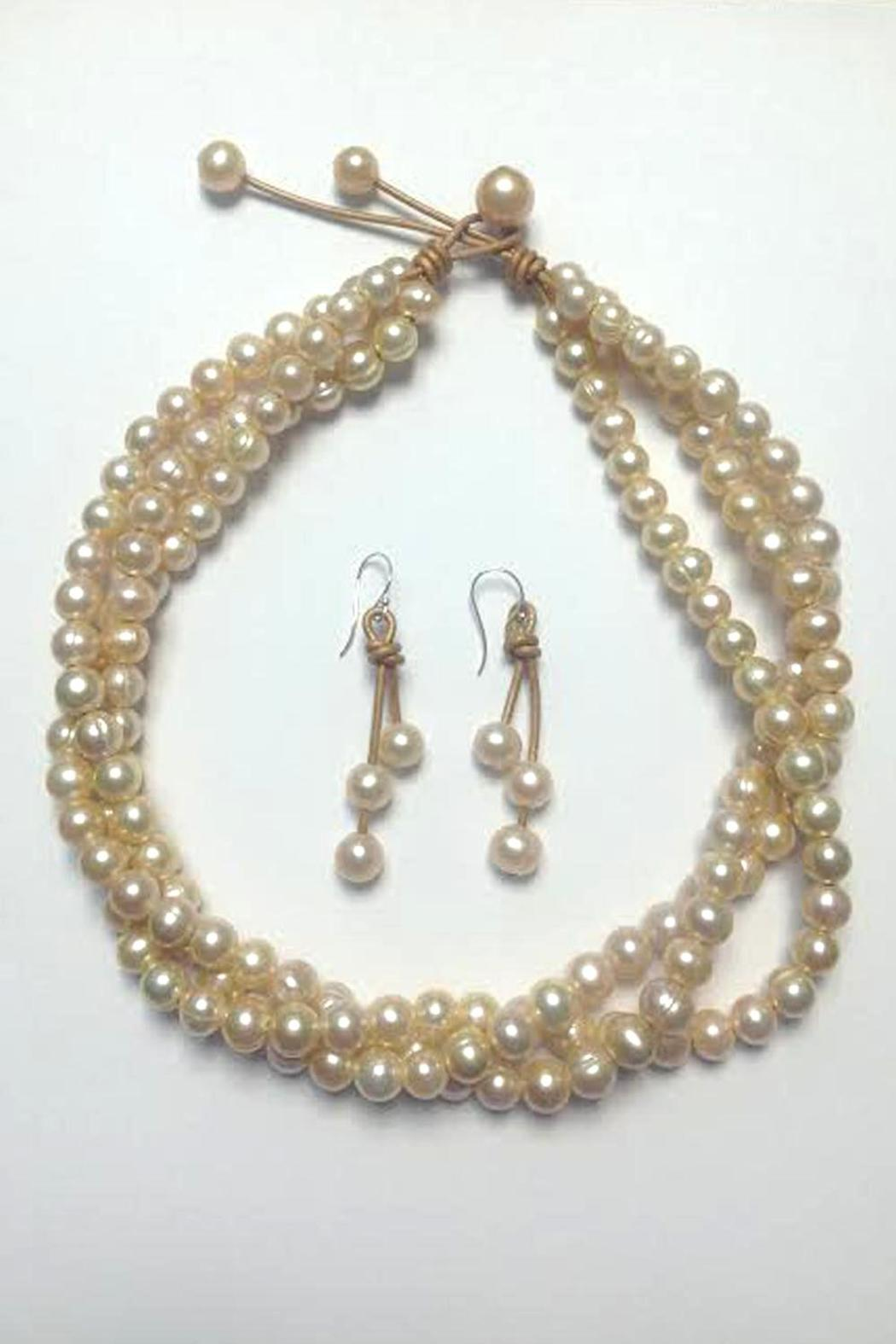 Lily Chartier Pearls Pink Pearl Necklace - Front Full Image