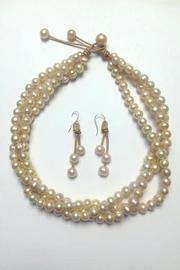 Lily Chartier Pearls Pink Pearl Necklace - Front full body