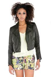 Shoptiques Product: Open Back Moto Leather Jacket