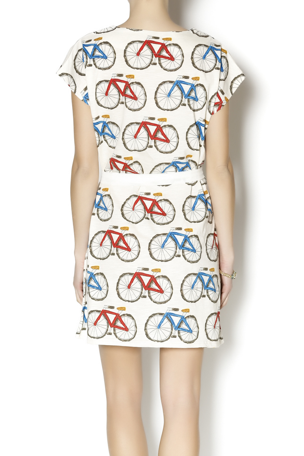 Pinkyotto Bicycle Shift Dress - Back Cropped Image