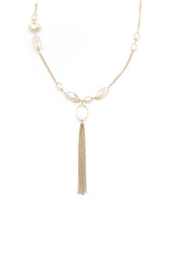 La Vie Parisienne Gold Tassel Necklace - Alternate List Image