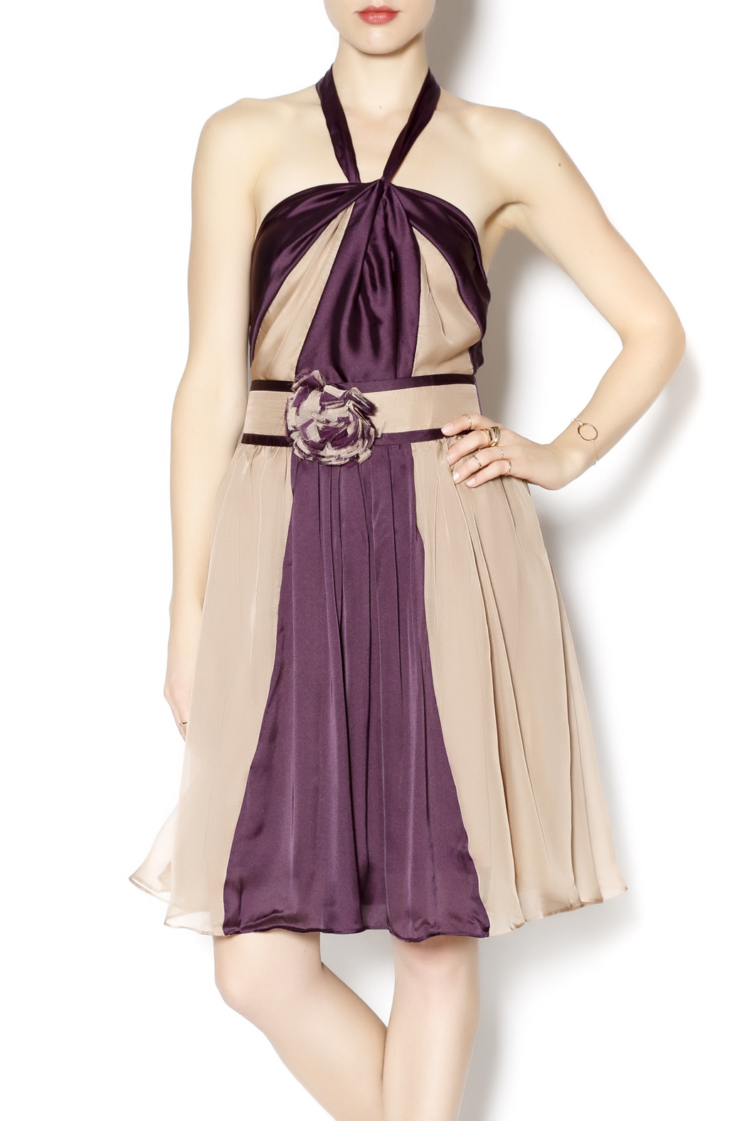 Ryu Plum and Tan Dress from Pennsylvania by Frequent Clothing ...