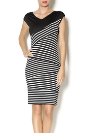 Black Box Boutique Black Cut Stripe Dress - Product Mini Image