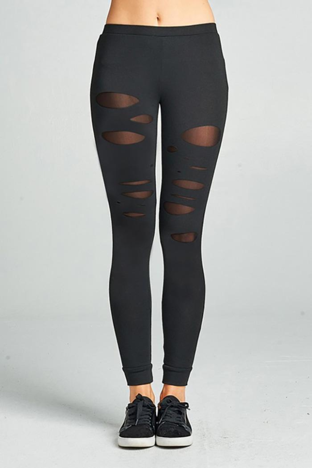 0 styleholic Cotton Jersey Leggings - Front Cropped Image