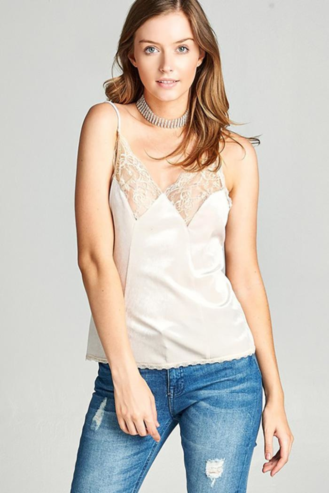 0 styleholic Velvet Cami Top - Front Cropped Image
