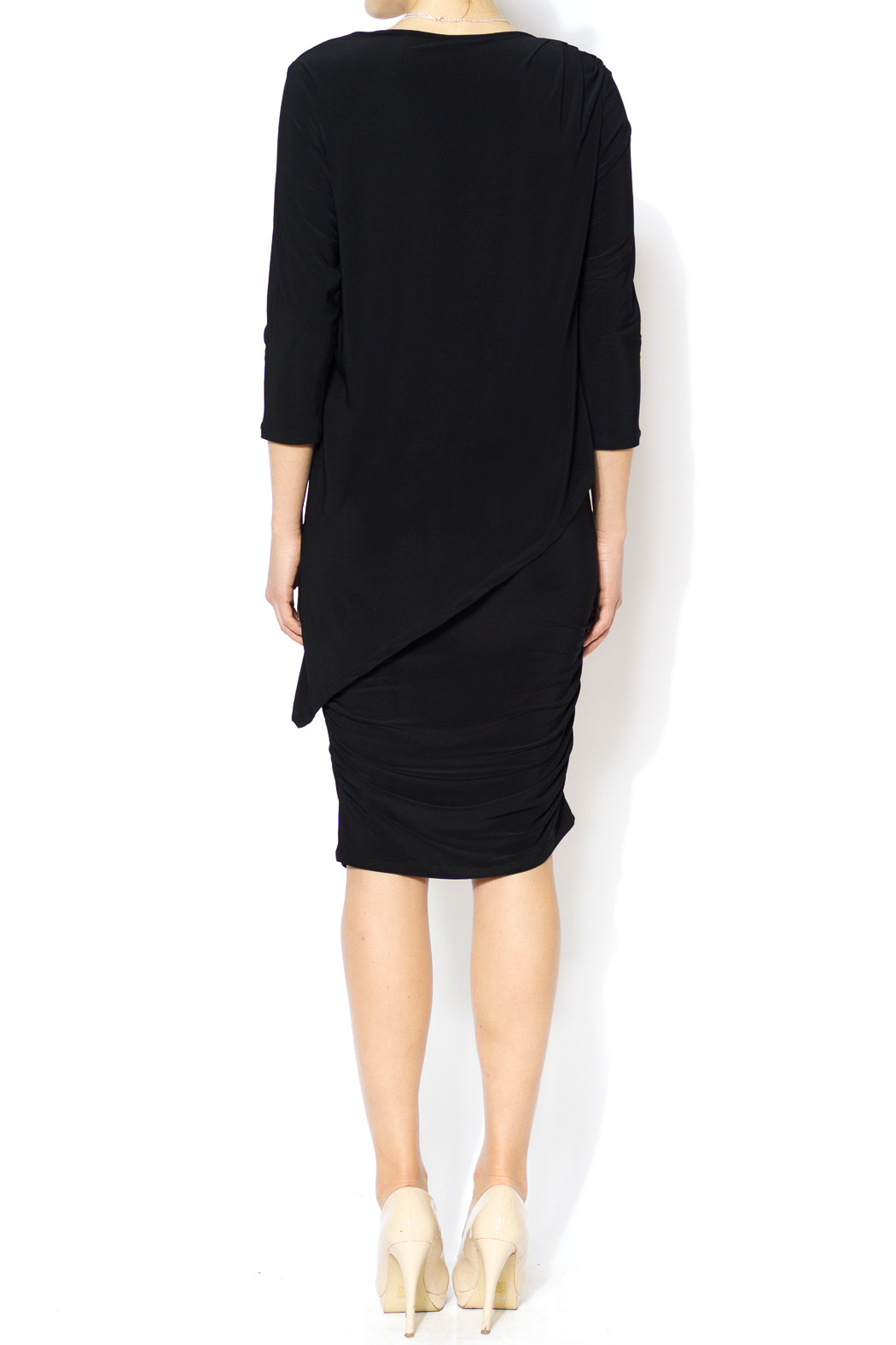 Last Tango Little Black Ruched Dress - Side Cropped Image