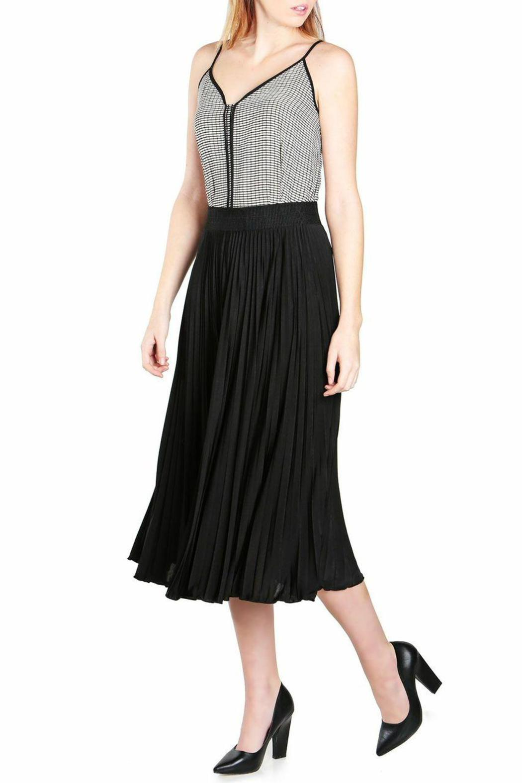 no rest for bridget pleated midi skirt from california