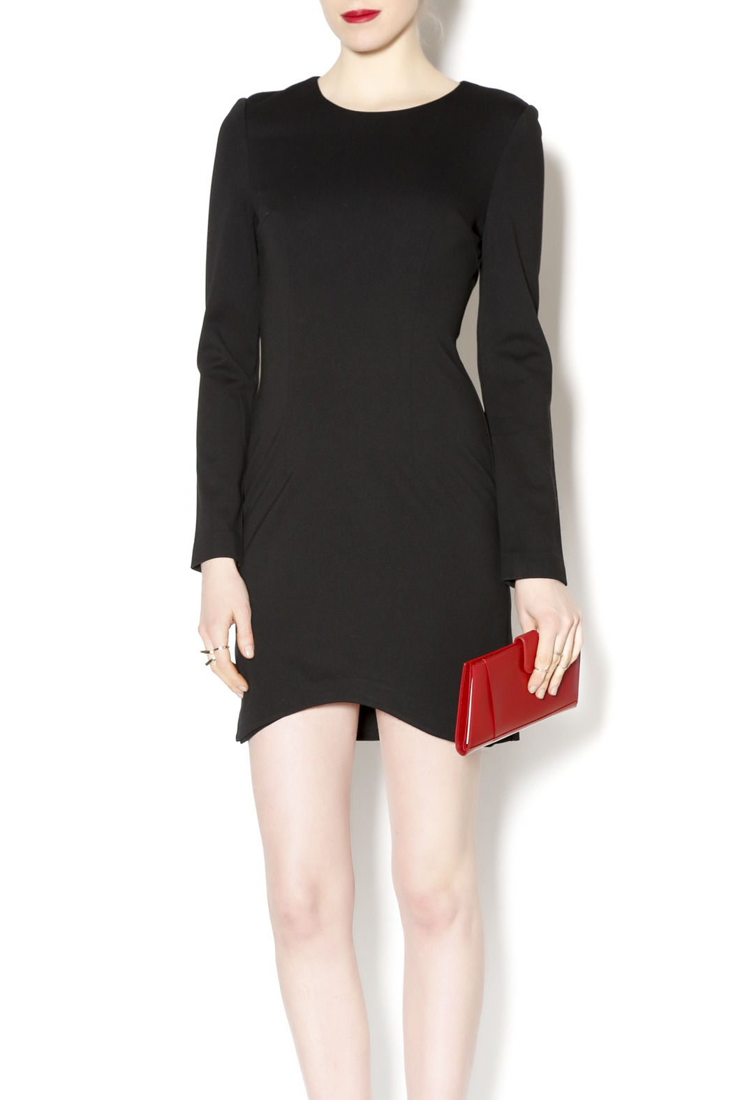 Black Label Black Scoop Hem Dress - Main Image