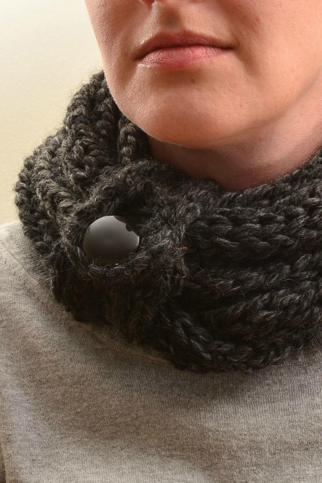 Local Artist  Finger-Knit Infinity Scarf - Front Full Image