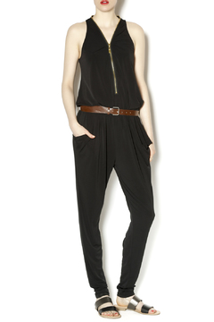 Caribbean Queen Black Zippered Jumpsuit - Product List Image