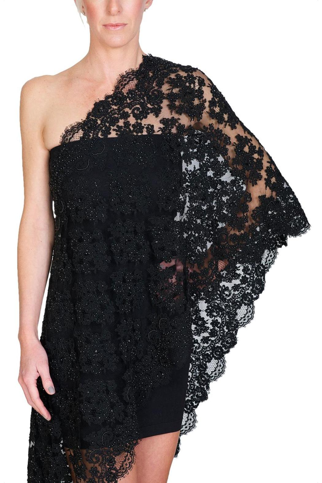 CLAIRE FLORENCE Black Beaded Lace - Main Image