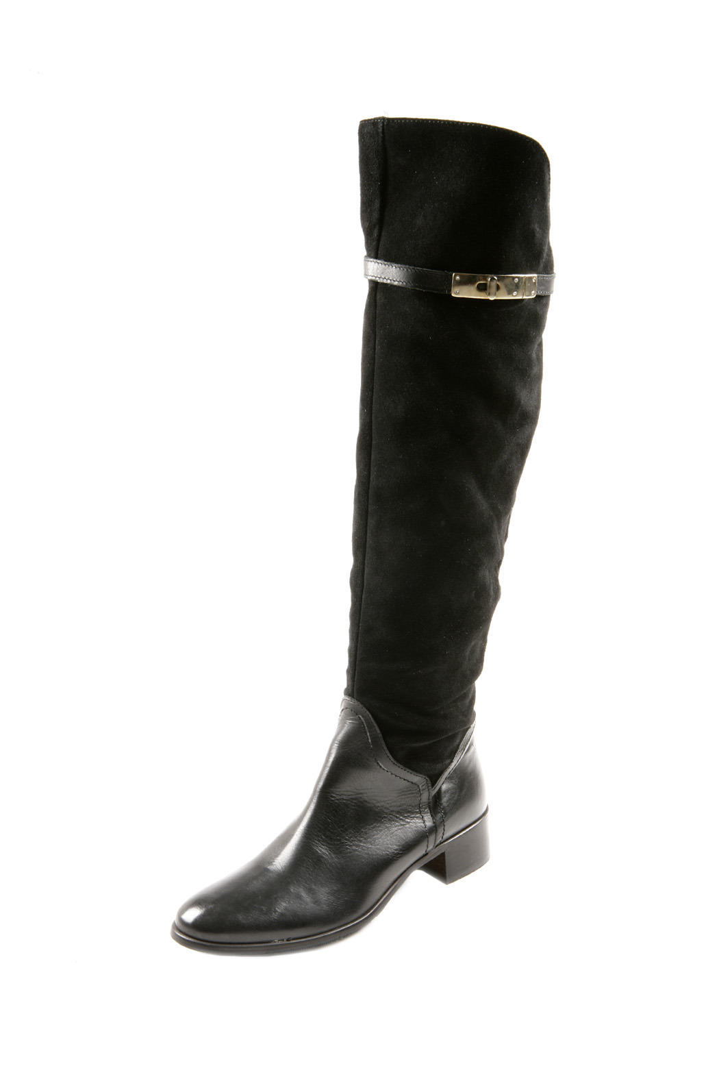 Lea-Gu Long Suede Leather Boots - Front Cropped Image