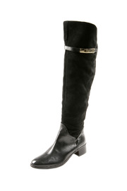 Lea-Gu Long Suede Leather Boots - Front cropped