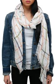 Simply Chic Plaid Pastel Scarf - Front cropped