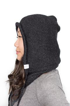 Shoptiques Product: Black Hooded Cowl