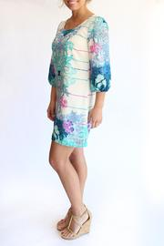 KLD Signature Printed Zippered Dress - Side cropped