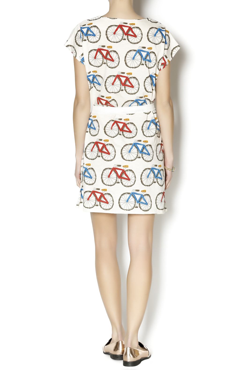 Pinkyotto Bicycle Shift Dress - Side Cropped Image
