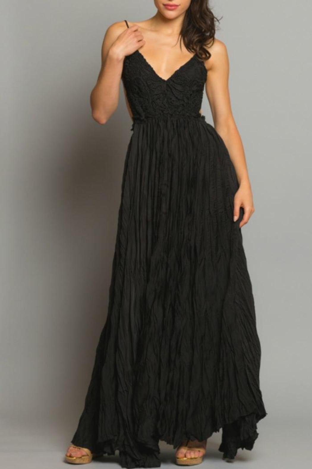 Backless Crochet Maxi - Front Cropped Image