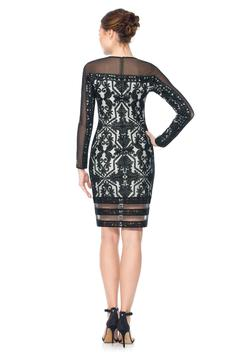 Tadashi Shoji Tulle Long-Sleeve Dress - Alternate List Image