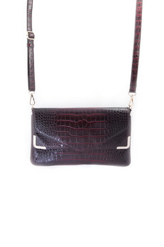 Melie Bianco Patent Envelope Clutch - Product List Image