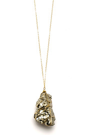 ZIA Boutique Wrapped Stone Necklace - Product Mini Image