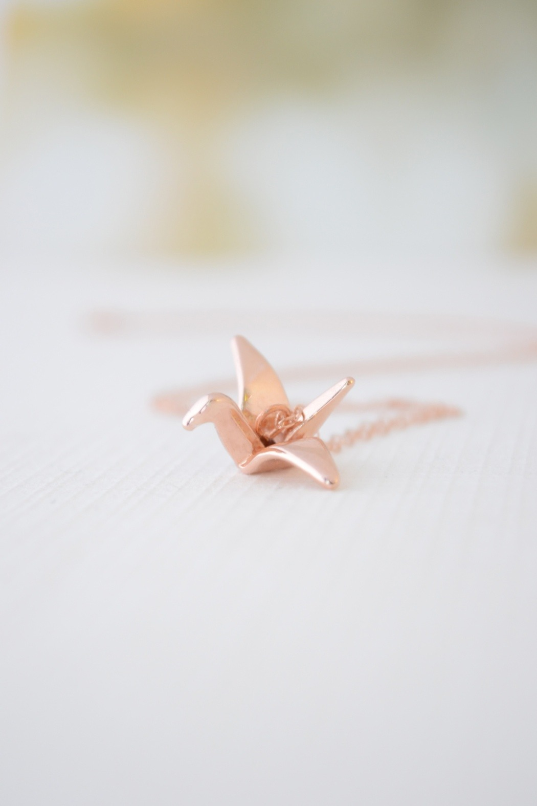 Olive Yew Origami Crane Necklace from North Carolina ... - photo#40