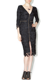 Xtaren Black Lace Zipper Dress - Product Mini Image