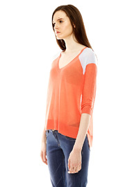 Autumn Cashmere Contrast Shoulder Detail Sweater - Side cropped