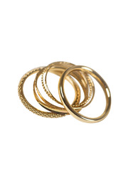 Shoptiques Product: Textured Gold Bangles