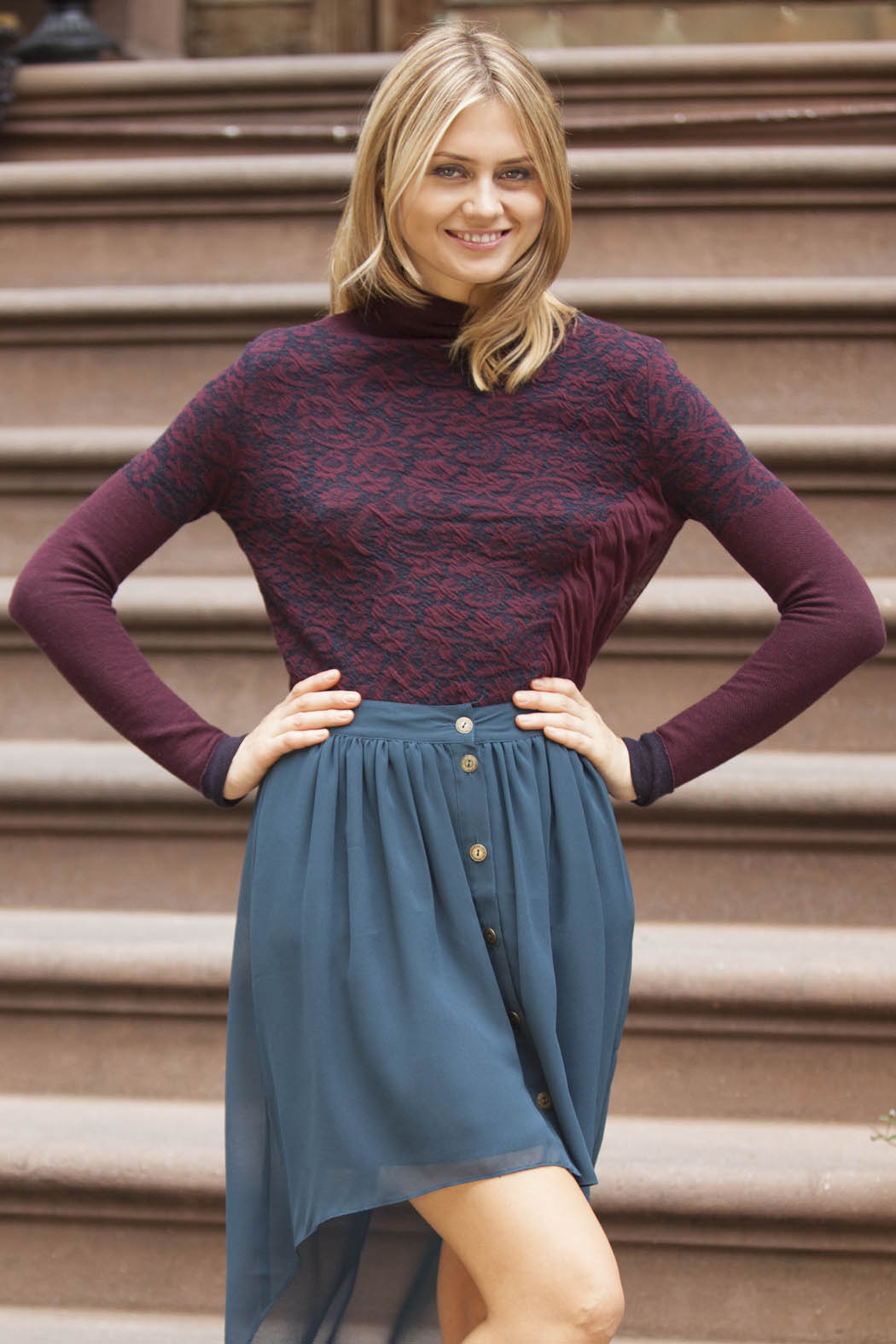 Gentle Fawn Sculpt Skirt - Front Cropped Image