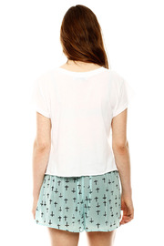 Audrey 3+1 Cross Print Shorts - Back cropped
