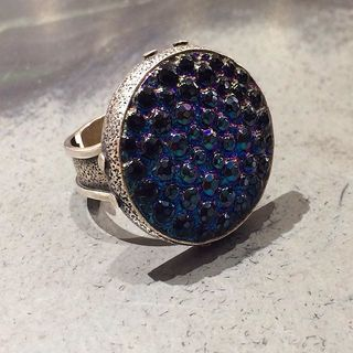 Shoptiques Blue Glass Ring