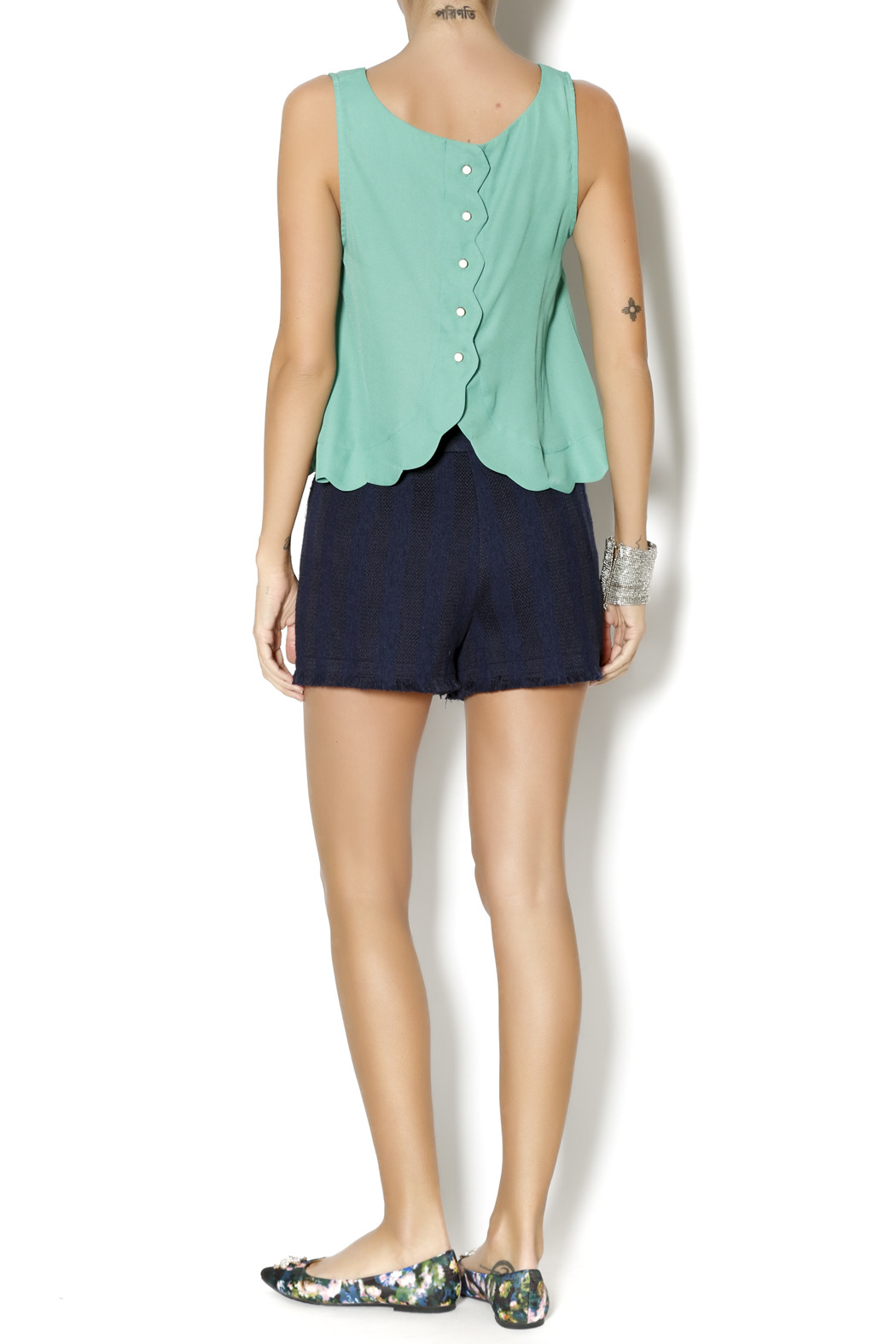Byrds Mint Fashionable Tank - Side Cropped Image