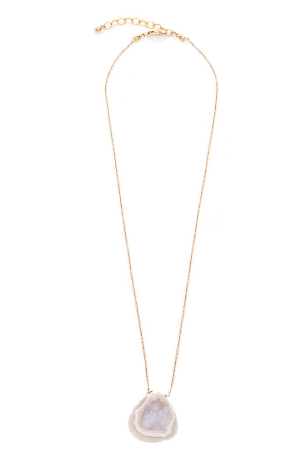 Beth Long Gold Druzy Necklace - Main Image