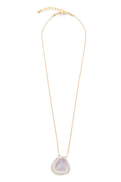 Beth Long Gold Druzy Necklace - Product List Image